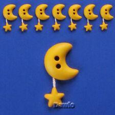 2 Fori Diametro 13mm realizzerà Bottoni 20 Pezzi Bottoni Acrilico Rotondo Bianco Oro