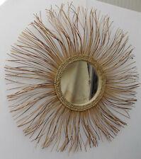 Specchio sole in vegetale naturale rattan diamentro cm 90 vetro cm 29 specchi
