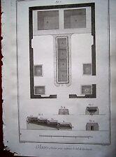 21-38-12 Gravure 18e Diderot et d'Alembert glaces atelier pour extraire du sel