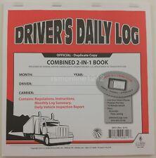 JJ Keller 8541 (615L) 2-In-1 Driver's Daily Log Book w/Simplified DVIR, No Recap