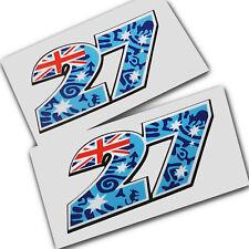 Casey Stoner 27 Moto GP aboriginal design graphics stickers decals MED x 2PCS
