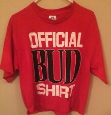 Vtg 1994 OFFICIAL BUD PARTY SHIRT Half T Shirt One SIze Fits All Budweiser Light