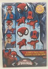 Marvel Ultimate Spider-Man 8 Party Photo Props - Birthday Party Masks