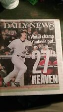 NEW YORK YANKEES WIN 27TH CHAMPIONSHIP NOV. 5, 2009 NEW YORK DAILY NEWS