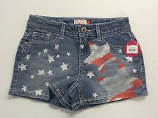GIRL'S SIZE 12 SO BRAND RED AND WHITE STARS PRINT DENIM SHORTS NEW NWT #729