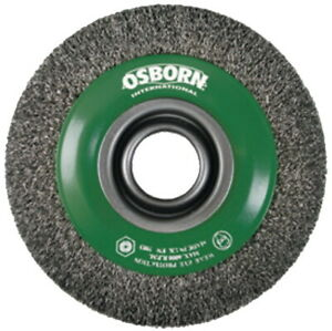 OSBORN 566362 WHEEL BRUSH 200x30x38 Crimped Stainless Steel Wire