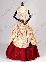 Civil War Southern Belle Scarlett O'Hara Gown Dress Theater Cosplay Clothing 081