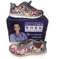 Skechers Womens Size 9.5 Comfort Flex HC Pro SR Waggy Dog Work Shoes