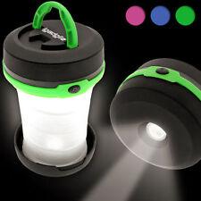 Linternas faroles color principal negro LED para acampada y senderismo