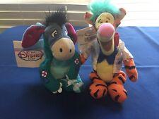 Disney Plush Beanie Babies Halloween Winnie the Pooh Tigger Eeyore lot of 2 Nwt!