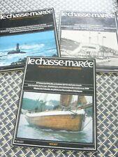 Lot de 3 revues LE CHASSE MAREE n° 3.  5.  7. Excellent état. Rare !!!