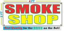 2x4 SMOKE SHOP Banner Sign NEW Discount Size - Best Quality for The $$$