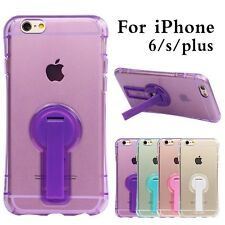 Transparent Clear TPU Silicon Soft Case With Stand Holder For iPhone 6/S/Plus