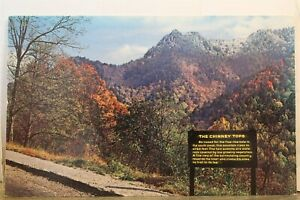 Great Smoky Mountains National Park Chimney Tops Postcard Old Vintage Card View