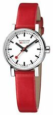 Mondaine evo2 Petite Stainless Red Leather Strap Ladies Watch MSE.26110.LC £189