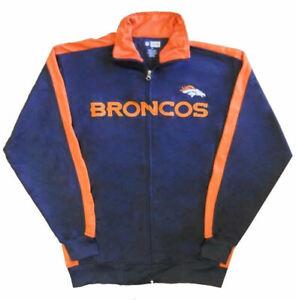 Denver Broncos NFL End Zone Full Zip Mens Track Jacket Big & Tall Sizes