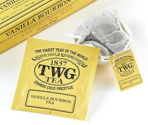 TWG Tea Singapore - Vanilla Bourbon - bulk box w/ 100 Hand Sewn Cotton tea bags
