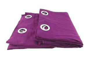 Pair of IKEA Mariam Blackout Drapes with Grommets Purple 42 x 82 in