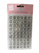54 CLEAR  ALPHABET & NUMBERS RUBBER STAMPS ~ CARD MAKING ~ SCRAPBOOK ~ NEW