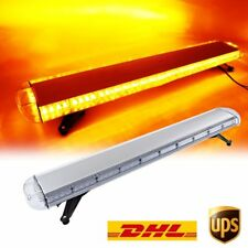 "51"" 96W LED Strobe Light Bar Amber/Yellow Emergency Beacon Hazard Warning Flash"