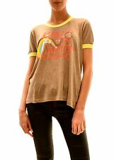 Wildfox Women's Hiked The Canyon Heather Agave Top Tee Brown XS RRP £59 BCF78