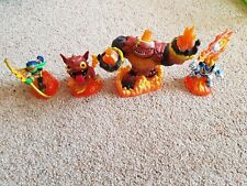 SKYLANDERS Giants figures x 4 ignitor flameslinger hot dog hot head