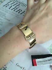 Rachel Zoe bracelet Cuff 14k Gold Plated & Crystals Pave Belt Good Gift NEW$95