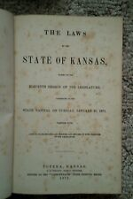 The Laws of the State of Kansas (1871 Legislative Session)