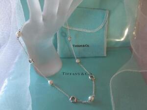 Tiffany & Co. Pearl Cushion Toggle Sterling Silver Necklace