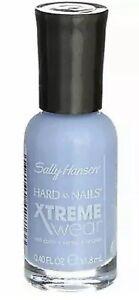 2 Pack Sally Hansen Hard As Nails Xtreme Wear Nail Color Polish Babe Blue 459 .4