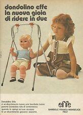 X9727 Bambole EFFE - Dondolino - Pubblicità 1975 - Advertising