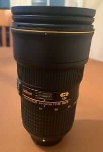 Nikon 24-70 mm f/2.8E ED VR Lens - Opened - Used Once