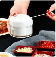 1x Manual Mini Pull String Kitchen Food Processor Vegetable Chopper Blender UK