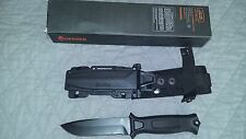 Gerber Strongarm Black Fixed Blade Partially Serrated Knife BRAND NEW