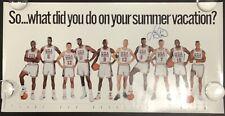 Larry Bird Signed Poster 35x18 Basketball Autograph 1992 Dream Team NBA HOF JSA