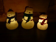Set of 3  LED Changing Battery  Snowman Indoor/Outdoor