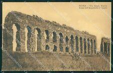 Roma Via Appia Nuova Acquedotto di Claudio cartolina XB4638