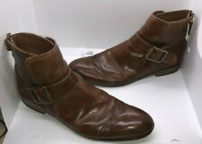 Donald J. Pliner Mens Zaira Brown Tan Casual Boots Shoe Buckle & Zipper Size 10M