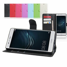 Plain Mobile Phone Wallet Cases for Huawei P9 lite