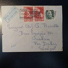N°728/753 PAIRE LETTRE COVER SALON DE LA PHILATÉLIE PARIS 1946 PR DAKAR SÉNÉGAL
