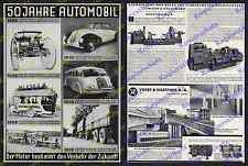 Reklame Stromlinienwagen Maybach SW 35 Mercedes-Benz Reichsautobahn Omnibus 1935