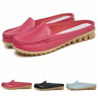 Breathable Hollow Mules Womens 34-42 Slip On Casual Slipper Nurse Loafer Shoes B