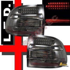 2003-2006 Porsche Cayenne S/Turbo Smoke LED Tail Lights 1 Pair Plug & Play