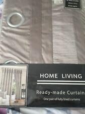 Pair Of New Eyelet Brown Curtains