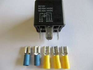 Automotive Relay, Operating Current, Changer, High 12V 50A Set 4 Incl. 5 Plugs