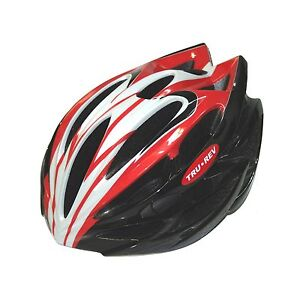TruRev Red Cyclist Bike Helmet: Ultra Lite! S/M