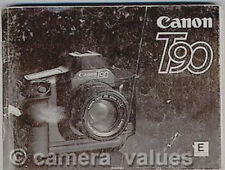 Canon T90 Instruction Manual, More Camera Owners Manuals and Books Listed
