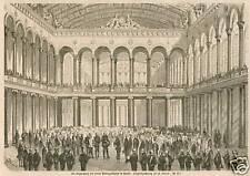 Berlin/Einweihung der neuen Börse.Holzstich 1863