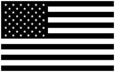 """American Flag Vinyl Decal Sticker Tactical Subdued Black and White - 5"""" in."""