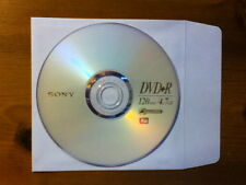(5) Sony 1x-16x DVD+R blank disc 4.7GB data / 120 min video with (5) sleeves